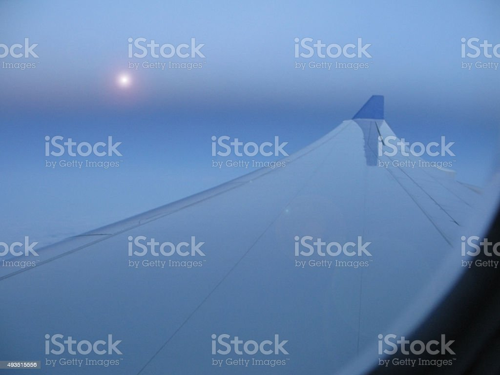 Airline wing and star stock photo