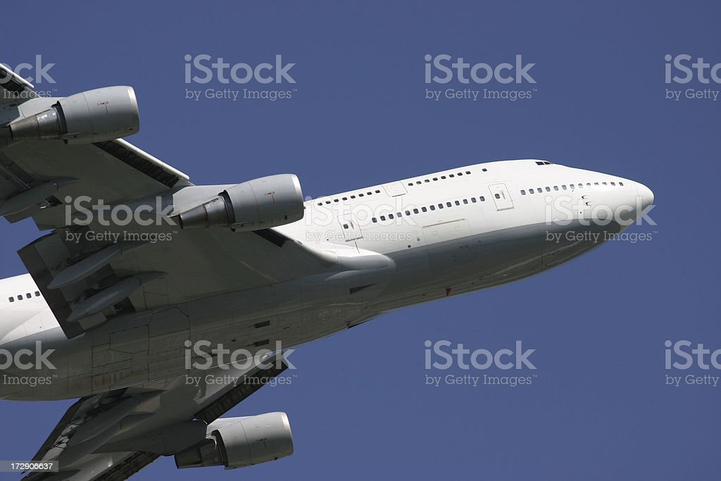 Airliner closeup royalty-free stock photo