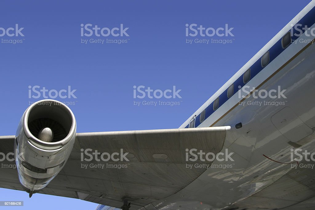 Airliner Detail stock photo