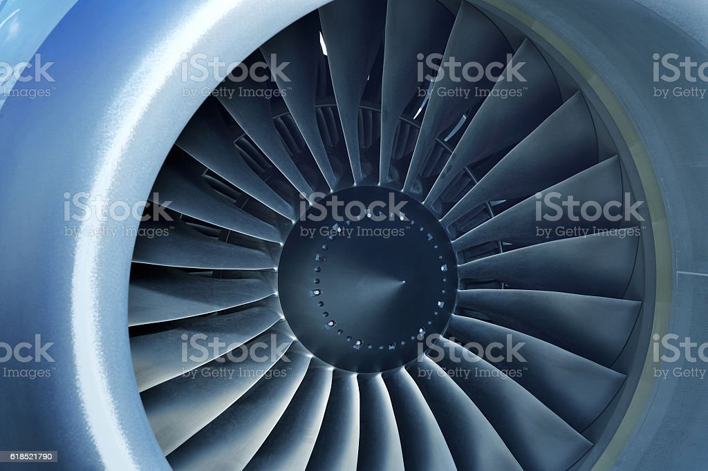 Airliner Engine stock photo