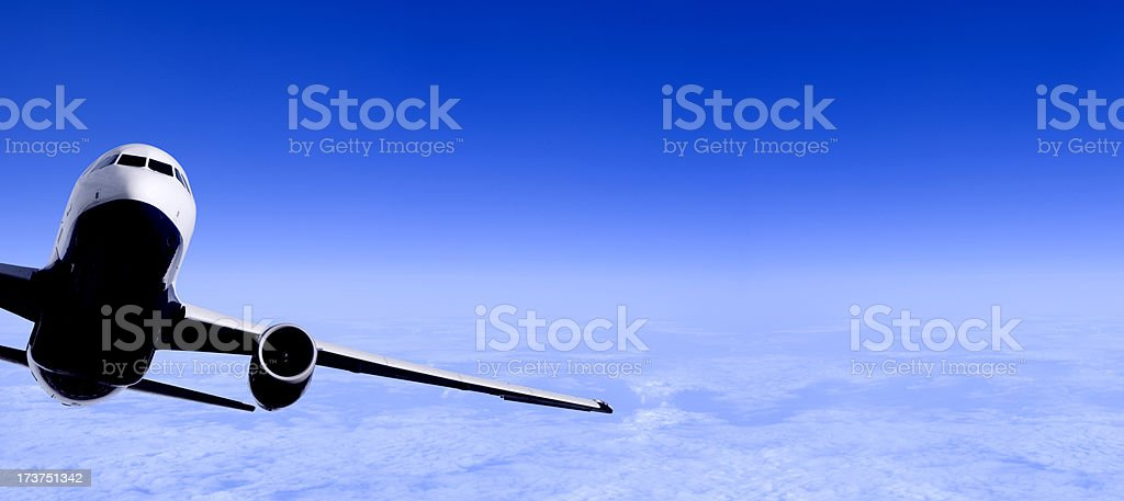 Airliner Flying royalty-free stock photo