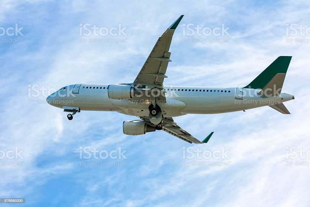 Airliner in the air royalty-free stock photo