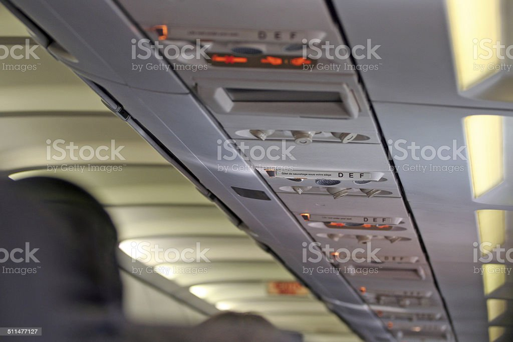 Airliner Interior stock photo
