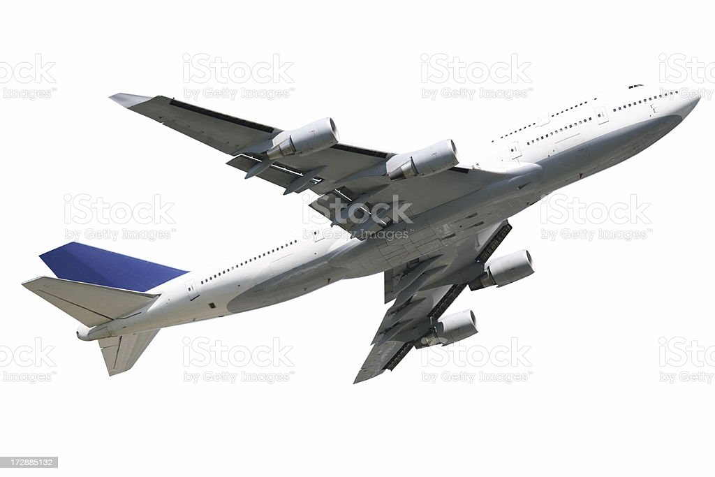 Airliner isolated royalty-free stock photo