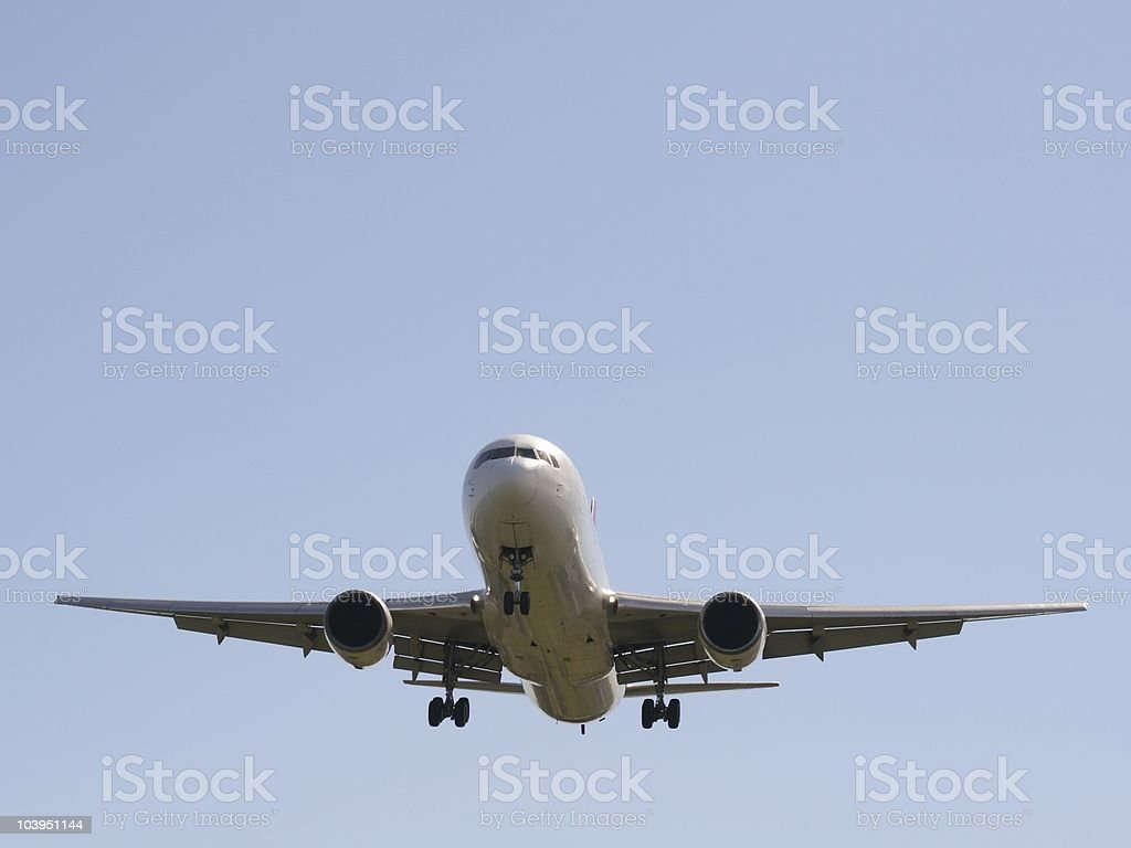 Airliner Landing stock photo