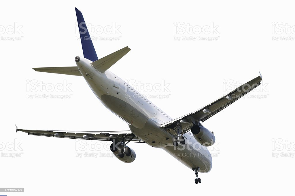 Airliner on white royalty-free stock photo