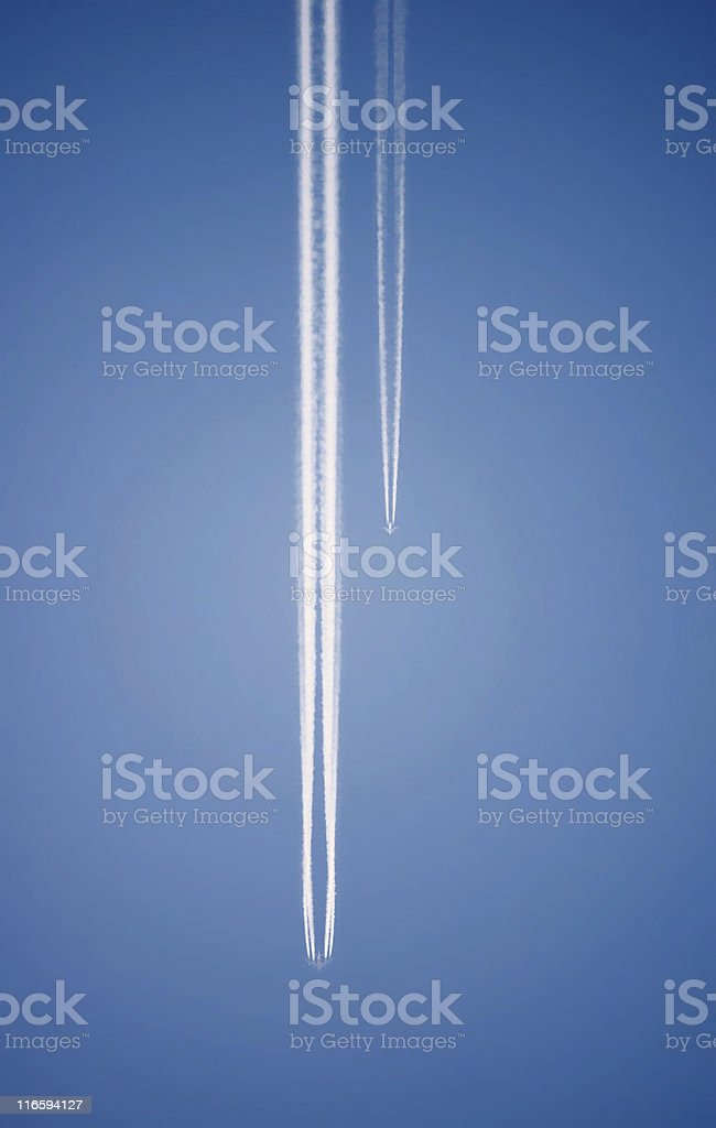 Airliner Race royalty-free stock photo