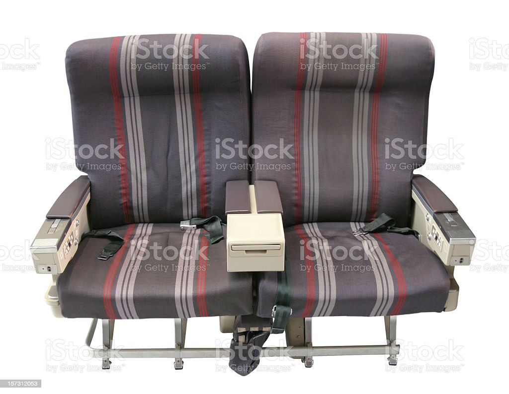 Airliner Seating Isolated on White Background royalty-free stock photo