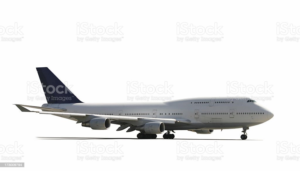Airliner standing on white royalty-free stock photo