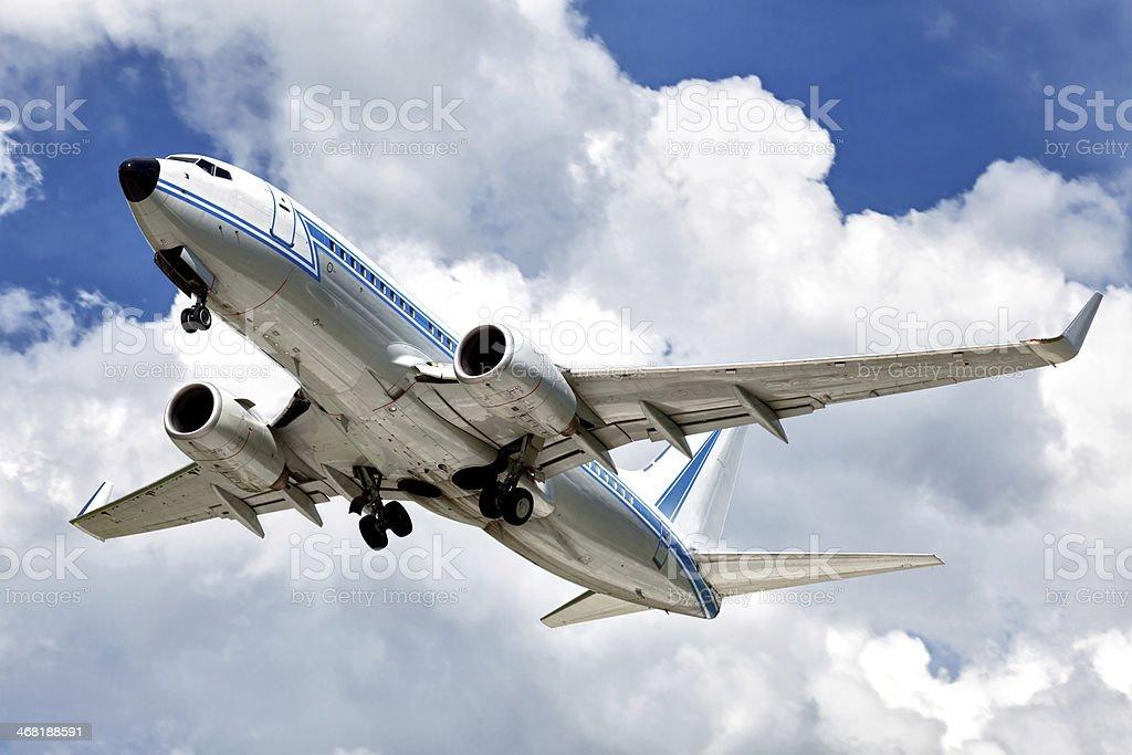 Airliner Abheben Lizenzfreies stock-foto