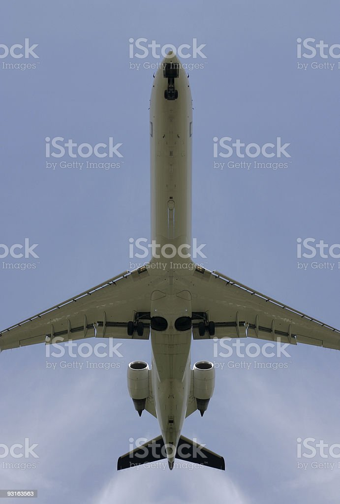 Airliner, upright format royalty-free stock photo