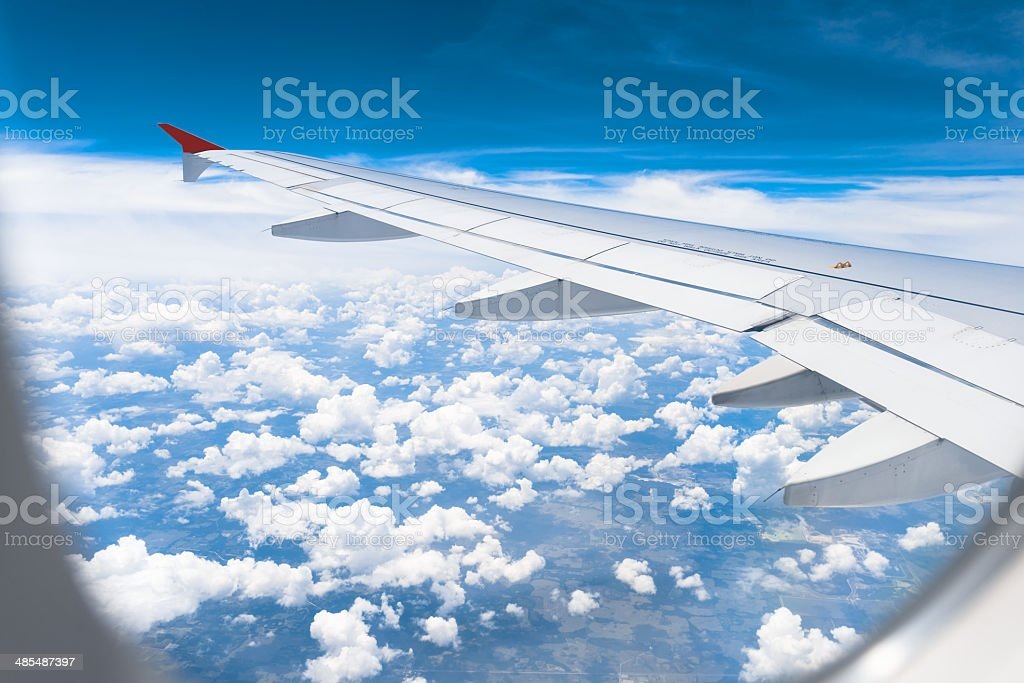 Airliner Wing View stock photo