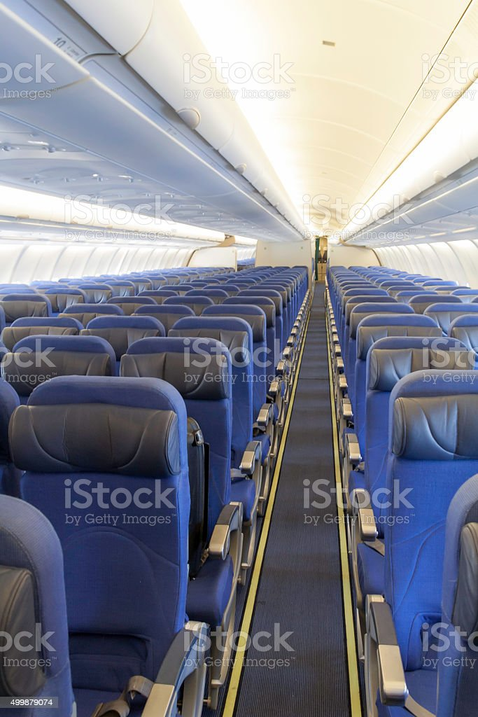 Airliners interior stock photo