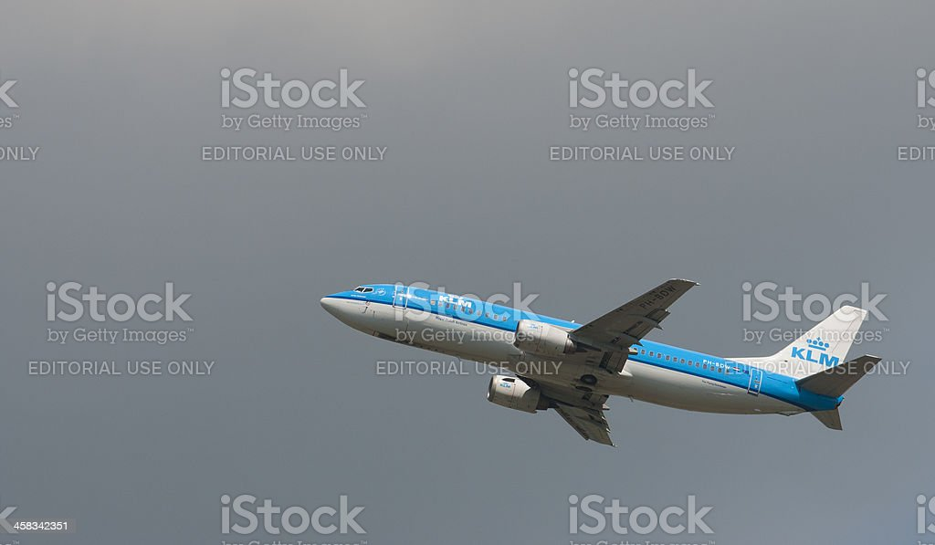 KLM airlines royalty-free stock photo