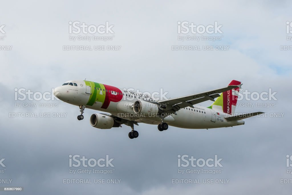 TAP airlines plane stock photo