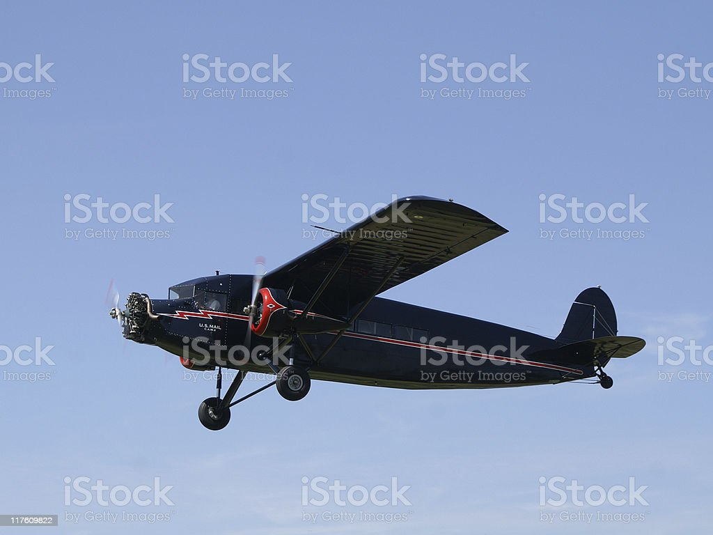 airmail airplane Stinson Trimotor royalty-free stock photo