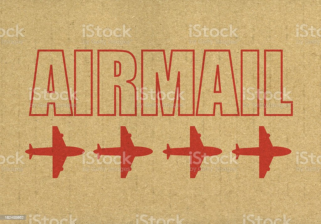 Airmail delivery royalty-free stock photo