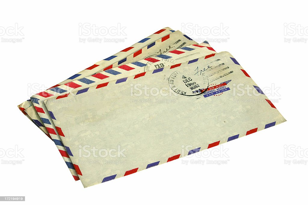 Airmail Isolated royalty-free stock photo