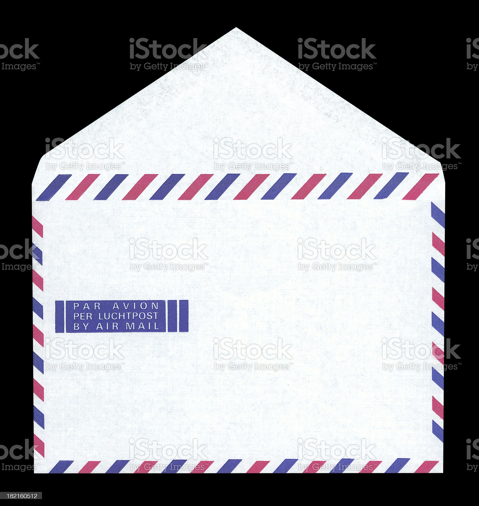 airmail open (with paths) royalty-free stock photo