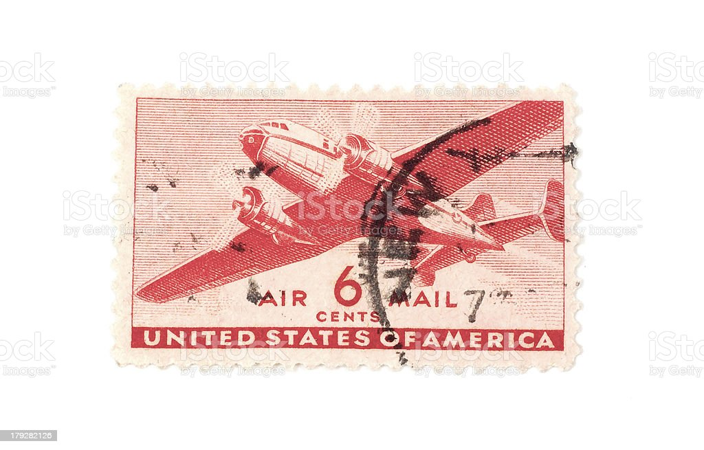 Airmail Stamp royalty-free stock photo