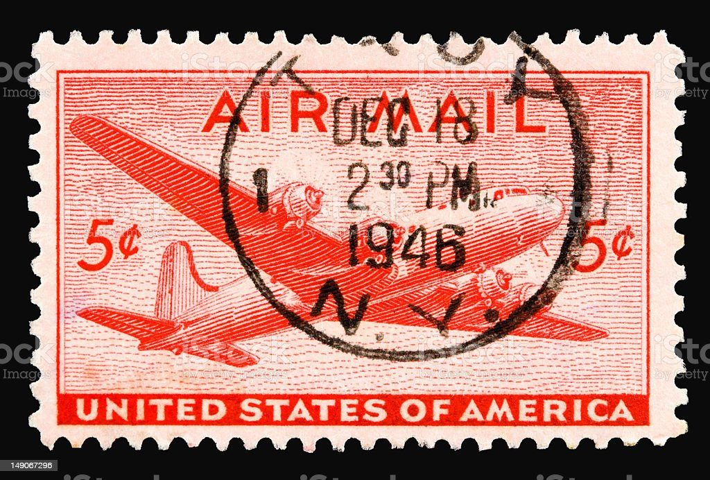 Airmail5 1946 stock photo