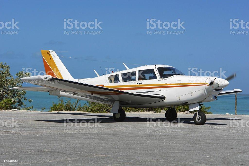 Airplaine stock photo