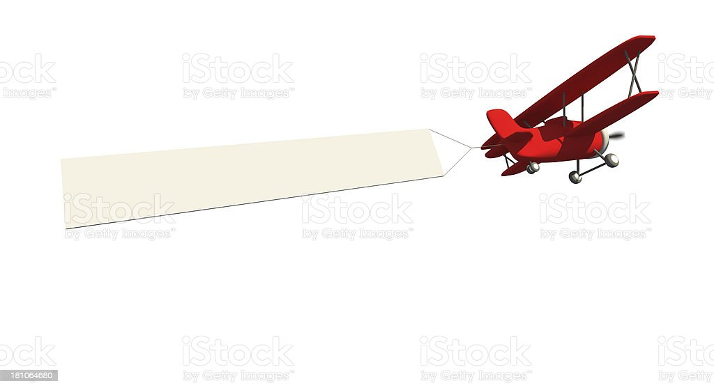 Airplane advertising stock photo
