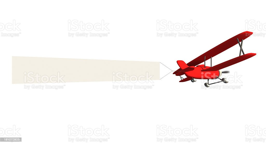 Airplane advertising royalty-free stock photo