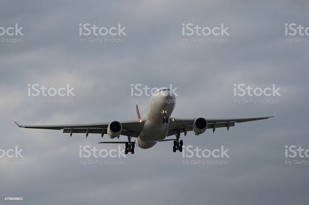 Airplane Airbus A330 stock photo