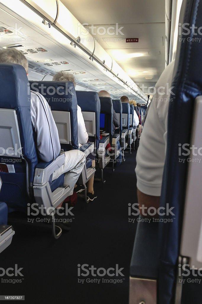 Airplane aisle royalty-free stock photo