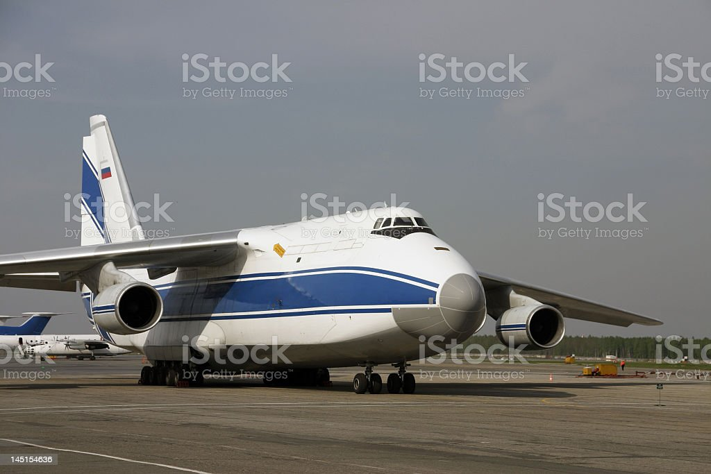 airplane  Antonov-124 'Ruslan' royalty-free stock photo