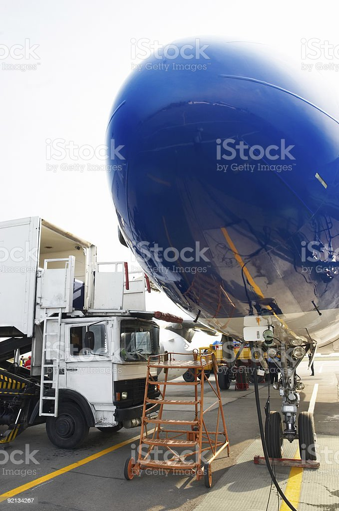 airplane at service royalty-free stock photo