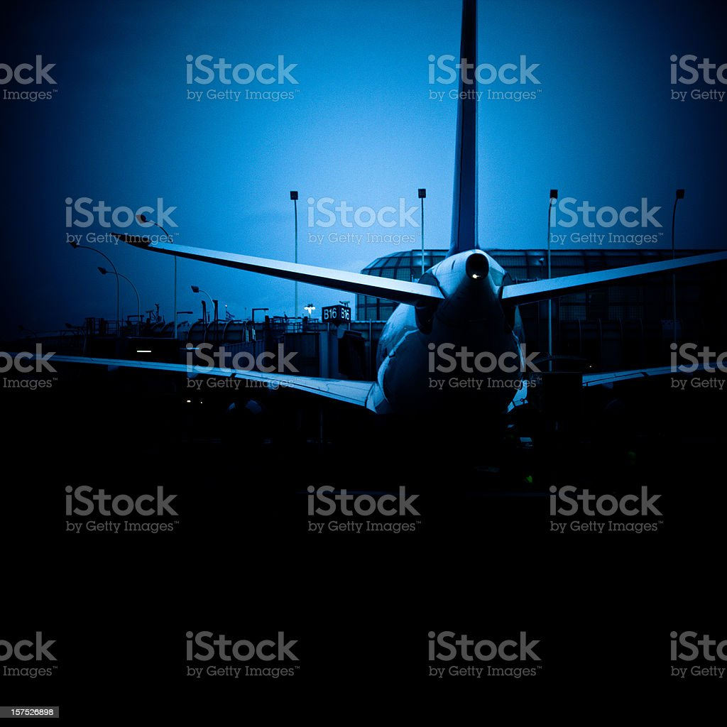 airplane at the boarding gate royalty-free stock photo