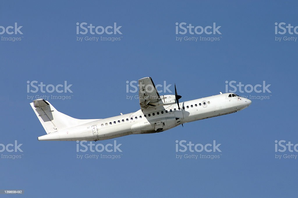 Airplane ATR-72 royalty-free stock photo