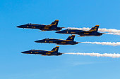 Airplane Blue Angels F-18 fighters