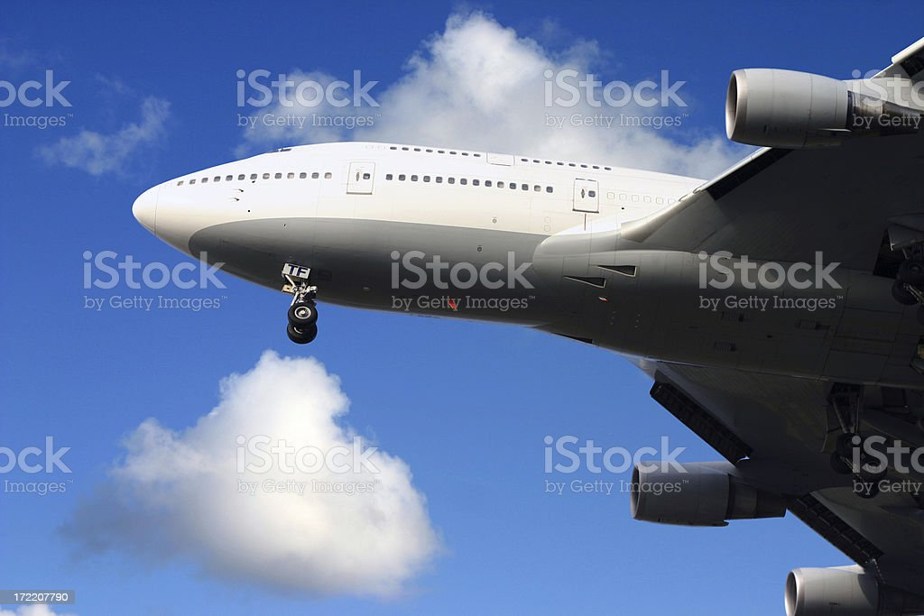 Airplane Boeing 747 close-up royalty-free stock photo
