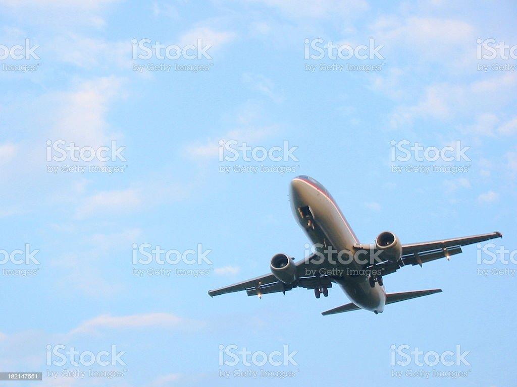 Airplane - Bottom Corner royalty-free stock photo