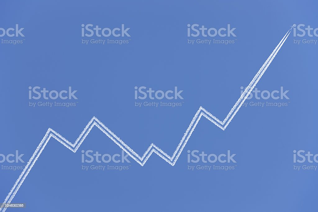 Airplane Business Graph stock photo