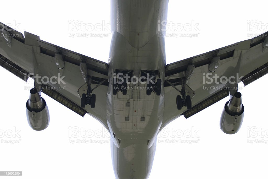 Airplane, buttom view, isolated royalty-free stock photo