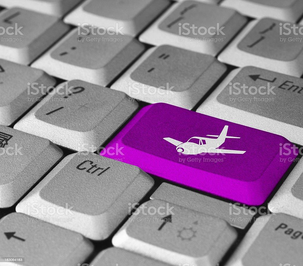 Airplane Button royalty-free stock photo