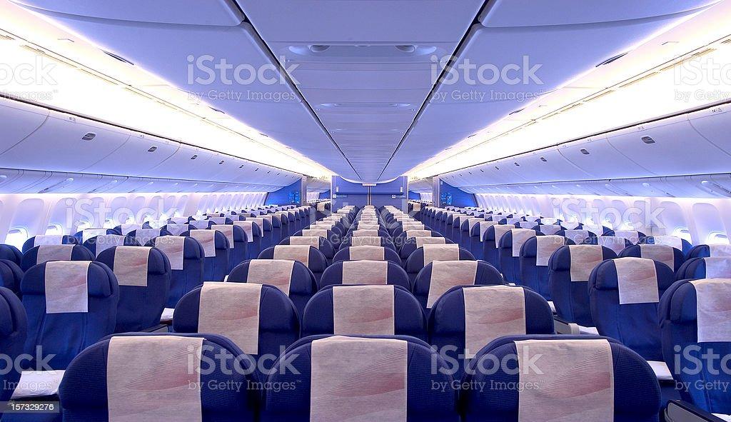 airplane cabin interior royalty-free stock photo