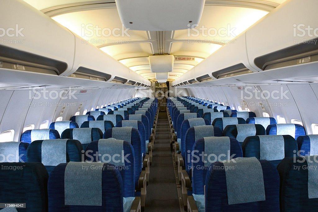 airplane cabin jet interior stock photo