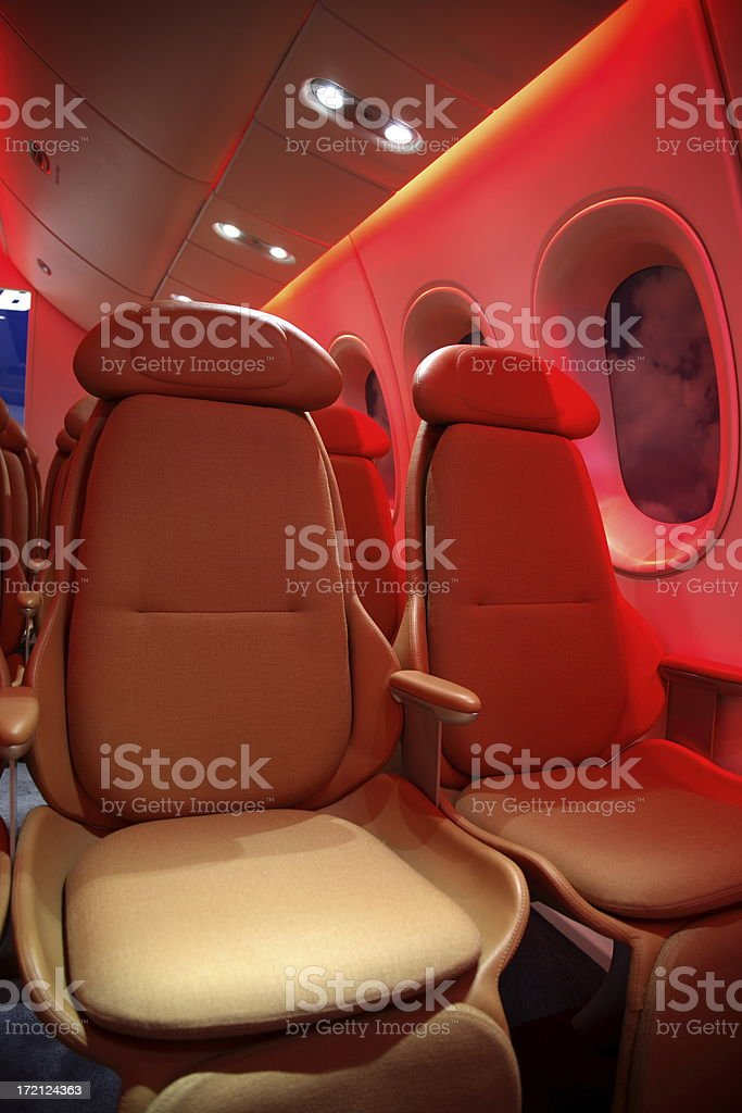 Airplane Cabin royalty-free stock photo