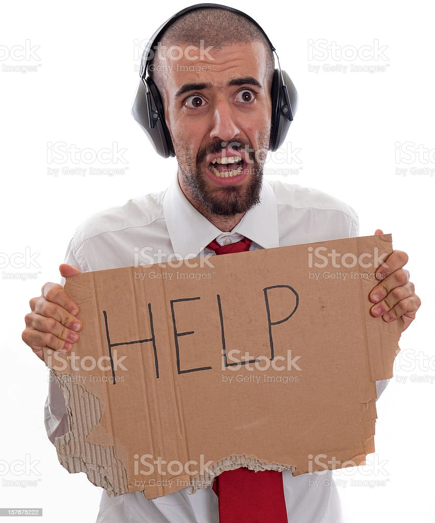Airplane: Captain Man required help royalty-free stock photo