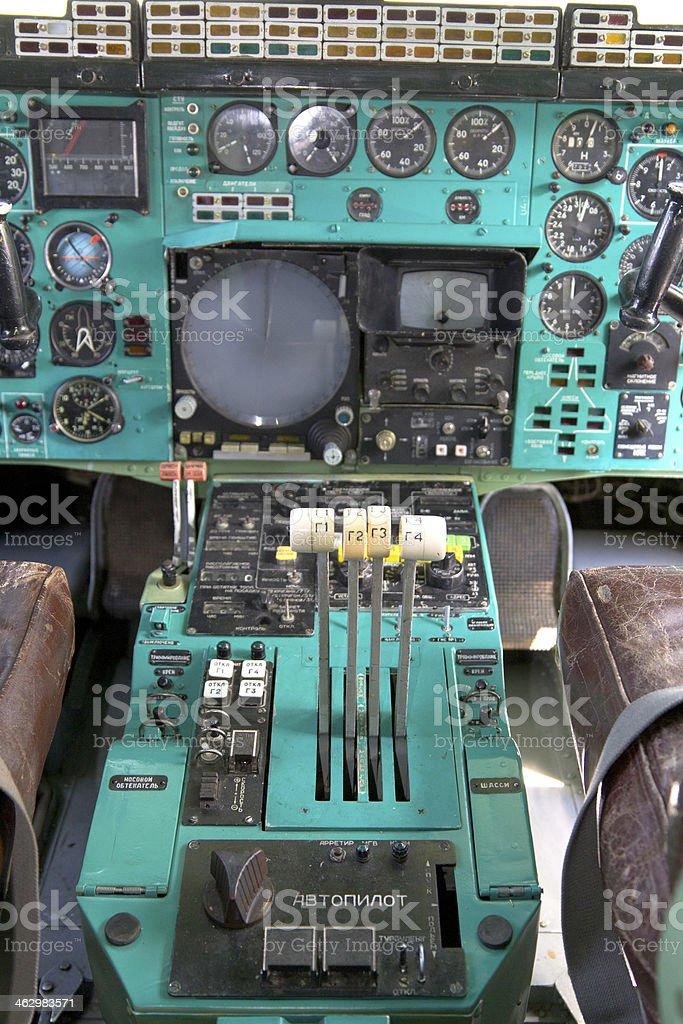 Airplane Cockpit stock photo