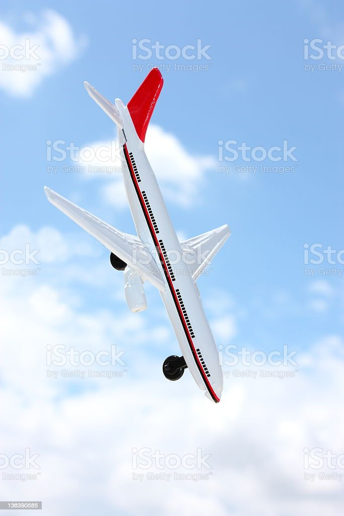 Airplane crash royalty-free stock photo