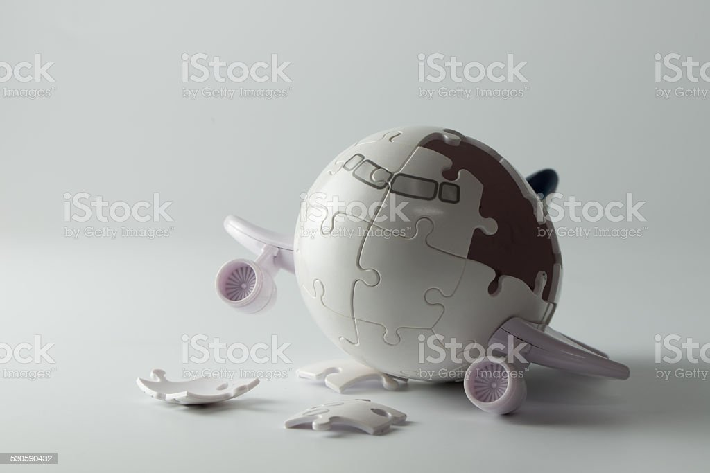 Airplane disaster concept stock photo