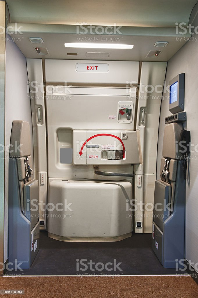 Airplane emergency exit door stock photo & Aircraft Door Pictures Images and Stock Photos - iStock Pezcame.Com
