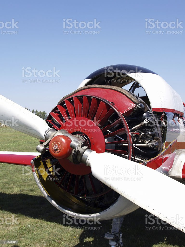 Airplane engine royalty-free stock photo