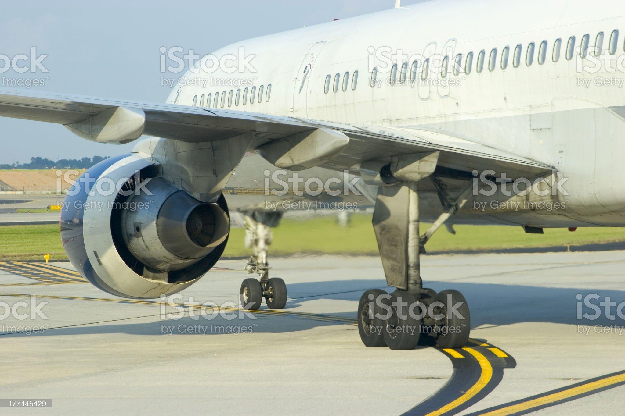 Airplane Engine Rear royalty-free stock photo